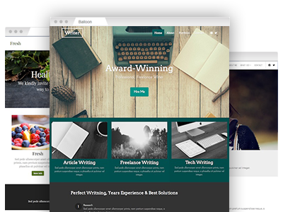 An array of easy to re–design themes